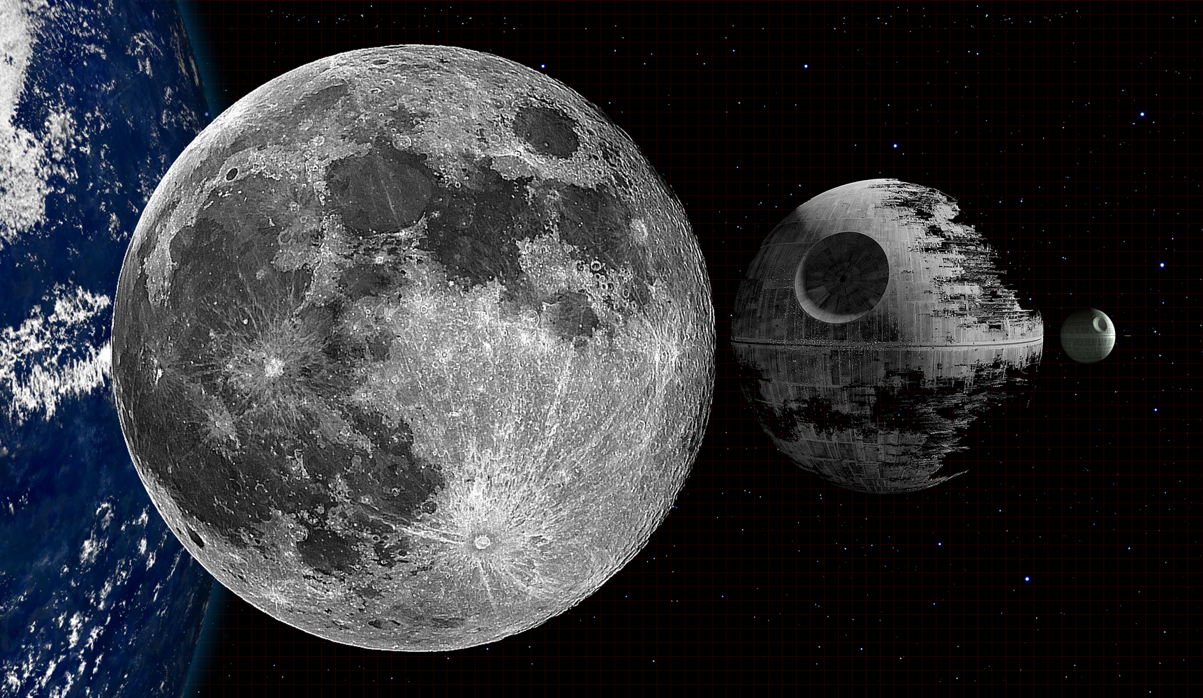 Death Star y la Luna