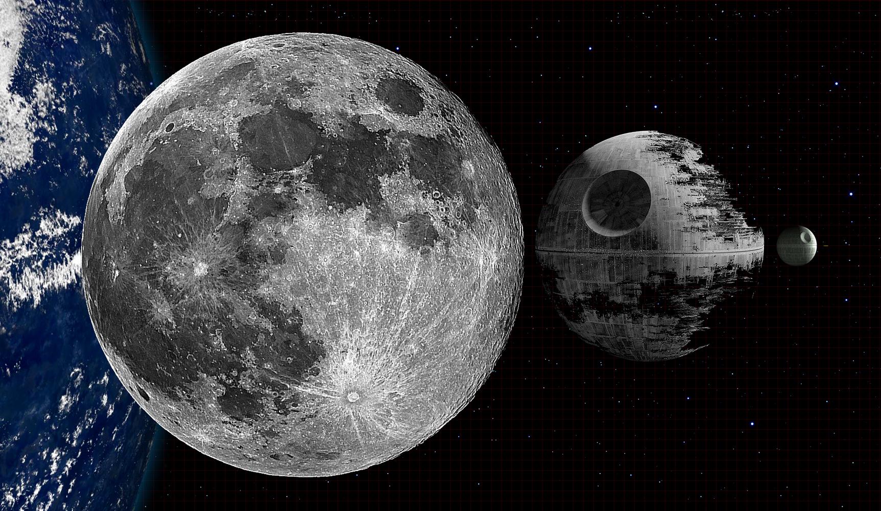 Death Star y la Luna