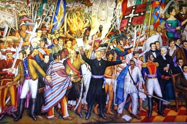 Banderas - Padres de la patria - Pater - Independencia - Grito de Dolores - Cuadro - Prócer